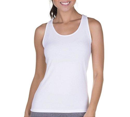 e27b96357c Camiseta Regata Cavada Feminina Camisa Blusa Fitness Academia Lisa Branca -  Personalizadas  Customizadas  Camiseteria