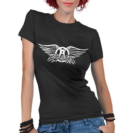 Camiseta Aerosmith Feminina Camisetas Femininas Rock  - Personalizadas/ Customizadas/ Estampadas/ Camiseteria/ Estamparia/ Estampar/ Personalizar/ Customizar/ Criar/ Camisa Blusas Baratas Modelos Legais Loja Online/ Bebê