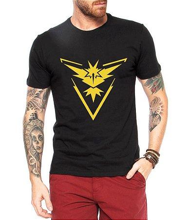 Camiseta Pokemon Masculina GoTeam Instinct - Personalizadas/ Customizadas/ Estampadas/ Camiseteria/ Estamparia/ Estampar/ Personalizar/ Customizar/ Criar/ Camisa Blusas Baratas Modelos Legais Loja Online