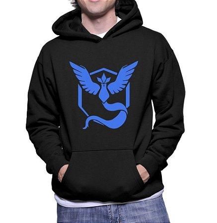 Moletom Pokemon Masculino GoTeam Mystic - Moletons Personalizados Blusa/ Casacos Baratos/ Blusão/ Jaqueta Canguru