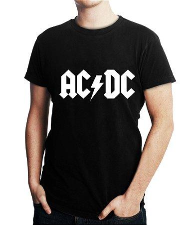 Camiseta Masculina ACDC Banda De Rock - Personalizadas/ Customizadas/ Estampadas/ Camiseteria/ Estamparia/ Estampar/ Personalizar/ Customizar/ Criar/ Camisa Blusas Baratas Modelos Legais Loja Online