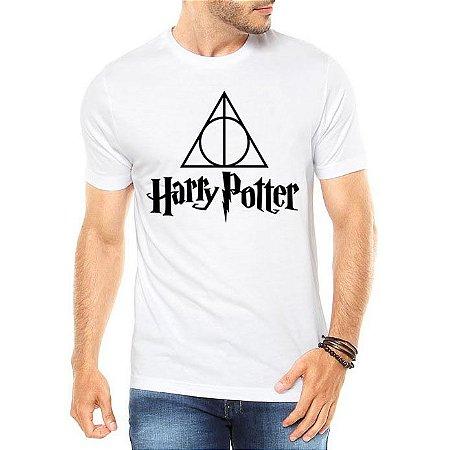Camiseta Masculina Harry Potter Relíquias Da Morte - Personalizadas/ Customizadas/ Estampadas/ Camiseteria/ Estamparia/ Estampar/ Personalizar/ Customizar/ Criar/ Camisa Blusas Baratas Modelos Legais Loja Online