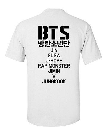 Camiseta Masculina Bts Bangtan Boys Integrantes Jin Jimin Suga V J-Hope Rap Monster Jung Kook - Personalizadas/ Customizadas/ Estampadas/ Camiseteria/ Estamparia/ Estampar/ Personalizar/ Customizar/ Criar/ Camisa Blusas Baratas Modelos Legais Loja Online