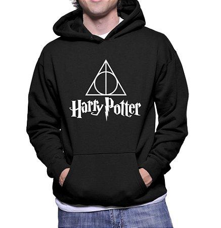 Moletom Masculino Relíquias da Morte Harry Potter -  Moletons Personalizados Blusa/ Casacos Baratos/ Blusão/ Jaqueta Canguru