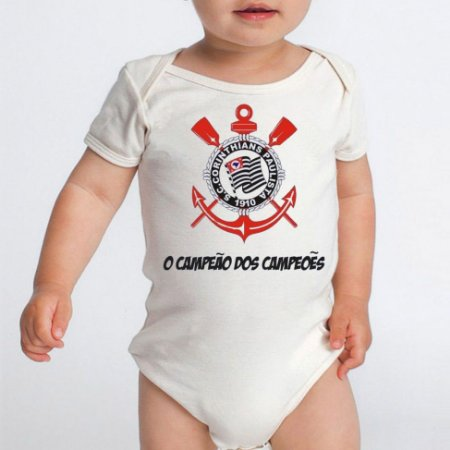 081f1f1e0eee9 Body Bebê Time de Futebol Corinthians Campeão - Roupinhas Macacão Infantil  Bodies Roupa Manga Curta Menino