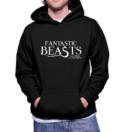 Moletom Masculino Harry Potter 2 Animais Fantásticos e Onde Habitam - Moletons Personalizados Blusa/ Casacos Baratos/ Blusão/ Jaqueta Canguru