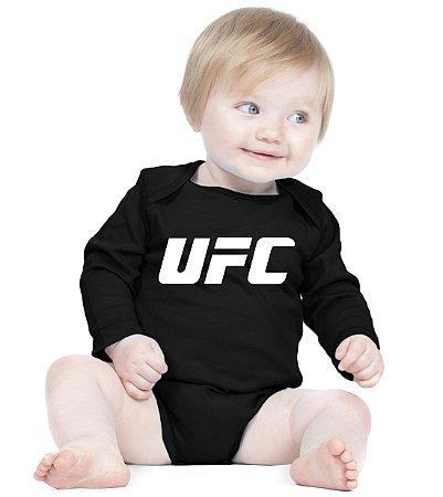 Body Bebê UFC MMA Jiu Jitsu Muai Thay - Roupinhas Macacão Infantil Bodies Roupa Manga Longa Menino Menina Personalizados