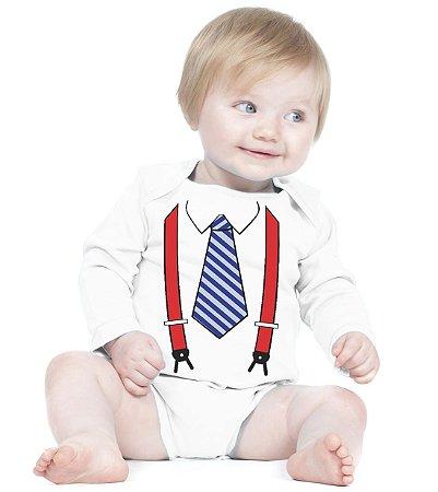 Body Bebê Engraçados, Divertidos e Criativos Gravata - Roupinhas Macacão Infantil Bodies Roupa Manga Longa Menino Menina Personalizados