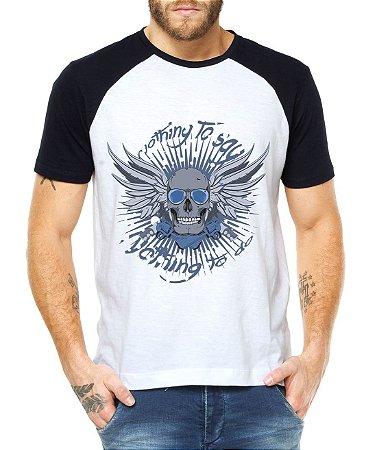 fb1b6d1eddcf8 Camiseta Raglan Bad Bones Caveira - Personalizadas  Customizadas   Estampadas  Camiseteria  Estamparia
