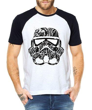 Camiseta Masculina Raglan Stormtrooper Star Wars Filmes - Personalizadas/ Customizadas/ Estampadas/ Camiseteria/ Estamparia/ Estampar/ Personalizar/ Customizar/ Criar/ Camisa Blusas Baratas Modelos Legais Loja Online