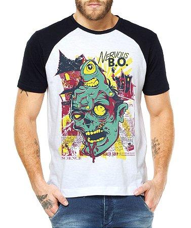 853822917 Camiseta Masculina Raglan Zumbi - Personalizadas  Customizadas  Estampadas   Camiseteria  Estamparia  Estampar