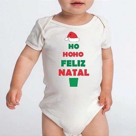 Body Bebê Feliz Natal Hohoho Papai Noel Boas Festas - Roupinhas Macacão Infantil Bodies Roupa Manga Curta Menino Menina Personalizados