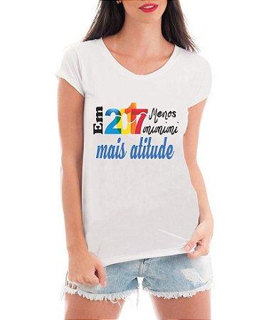 Camiseta Tshirt Blusa Feminina Ano Novo 2017 Menos Mimimi Réveillon - Personalizada/ Estampadas/ Camiseteria/ Estamparia/ Estampar/ Personalizar/ Customizar/ Criar/ Camisa T-shirts Blusas Baratas Modelos Legais Loja Online
