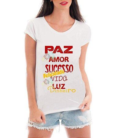 Camiseta Tshirt Blusa Feminina Ano Novo 2017 Réveillon Paz - Personalizada/ Estampadas/ Camiseteria/ Estamparia/ Estampar/ Personalizar/ Customizar/ Criar/ Camisa T-shirts Blusas Baratas Modelos Legais Loja Online