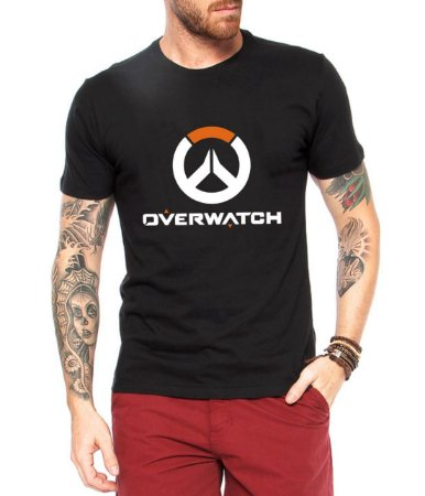 Camiseta Overwatch Masculina - Personalizadas/ Customizadas/ Estampadas/ Camiseteria/ Estamparia/ Estampar/ Personalizar/ Customizar/ Criar/ Camisa Blusas Baratas Modelos Legais Loja Online