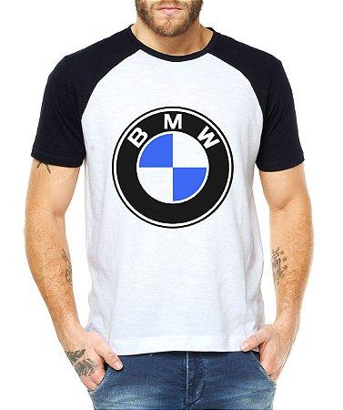 Camiseta BMW Raglan Masculina - Personalizadas/ Customizadas/ Estampadas/ Camiseteria/ Estamparia/ Estampar/ Personalizar/ Customizar/ Criar/ Camisa Blusas Baratas Modelos Legais Loja Online