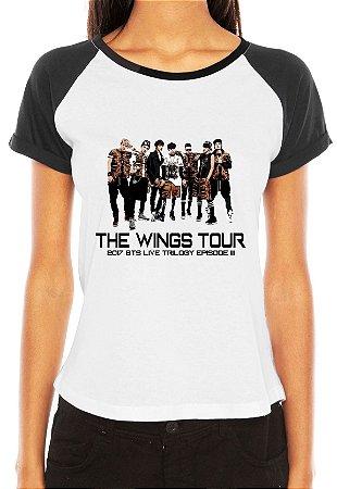 Camiseta Bts The Wings Tour Show Brasil Feminina 2017 São Paulo Live Trilogy Episode III Bangtan Boys Armys Fã Blusa T shirt