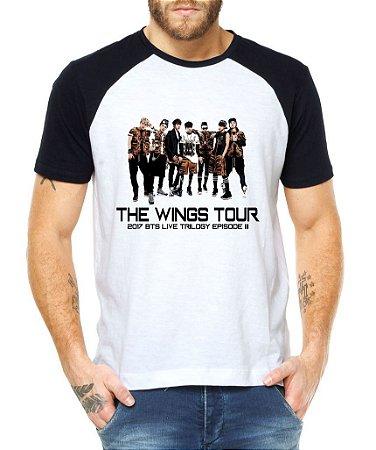 Camiseta Bts The Wings Tour Show Brasil Masculina 2017 São Paulo Live Trilogy Episode III Bangtan Boys Armys Fã Blusa T shirt