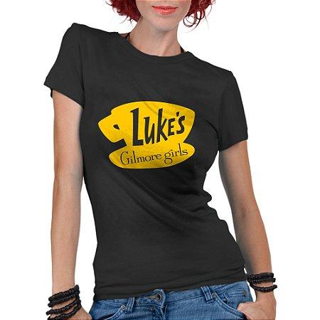 Camiseta Feminina Gilmore Girls Tal Mãe Tal Filha Seriado Café Lukes Preta - Personalizadas/ Customizadas/ Estampadas/ Camiseteria/ Estamparia/ Estampar/ Personalizar/ Customizar/ Criar/ Camisa Blusas Baratas Modelos Legais Loja Online