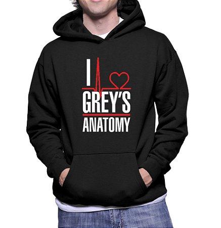 Moletom Masculino Grey's Anatomy Frases Seriado -  Moletons Personalizados Blusa/ Casacos Baratos/ Blusão/ Jaqueta Canguru