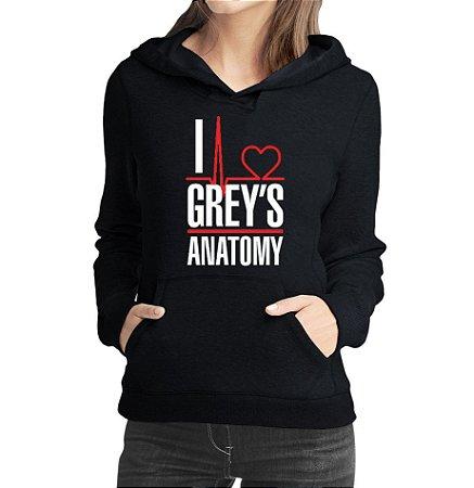 Moletom Feminino Grey's Anatomy Frases - Moletons Personalizados Blusa/ Casacos Baratos/ Blusão/ Jaqueta Canguru