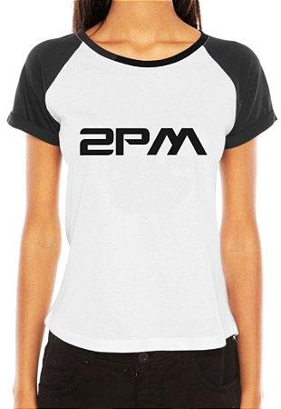Camiseta Feminina Kpop Banda 2PM T shirt Blusa K-pop Raglan - Estampadas Camisa Blusas Baratas Modelos Legais Loja Online