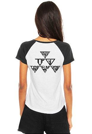 Camiseta Feminina Kpop Banda Big Bang T shirt Blusa K-pop Raglan - Estampadas Camisa Blusas Baratas Modelos Legais Loja Online