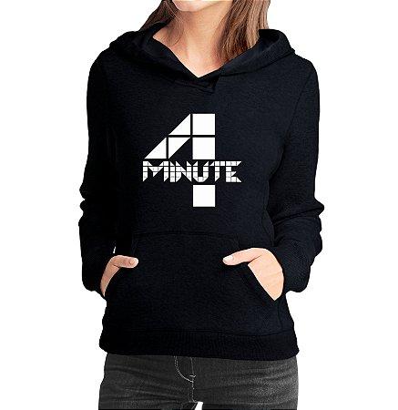 Moletom Feminino Kpop Banda 4 Four Minute K-pop - Moletons Blusa de Frio Casacos Baratos Blusão Canguru Loja Online