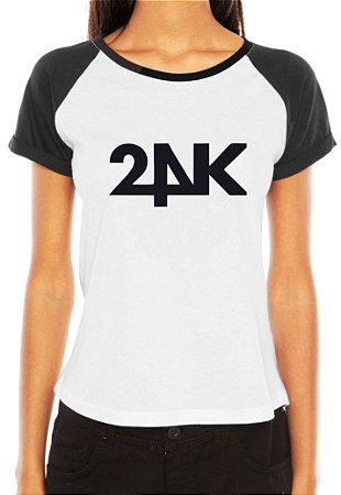 Camiseta Feminina Kpop Banda 24K T shirt Blusa K-pop Raglan - Estampadas Camisa Blusas Baratas Modelos Legais Loja Online