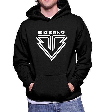 Moletom Masculino Kpop Banda Big Bang K-pop - Moletons Blusa de Frio Casacos Baratos Blusão Canguru Loja Online
