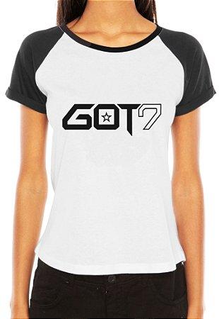 Camiseta Feminina Kpop Banda GOT7 T shirt Blusa K-pop Raglan - Estampadas Camisa  Blusas 9f18644d263
