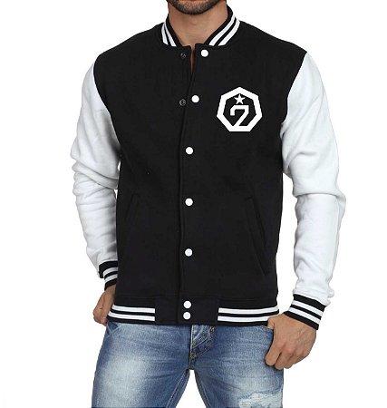 Jaqueta College Masculina Kpop Banda GOT7 K-pop - Jaquetas Colegial Americana Universitária Baseball Casacos Blusa Blusão Baratos Loja Online