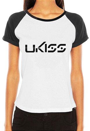 Camiseta Feminina Kpop Banda Ukiss T shirt Blusa K-pop Raglan - Estampadas Camisa Blusas Baratas Modelos Legais Loja Online