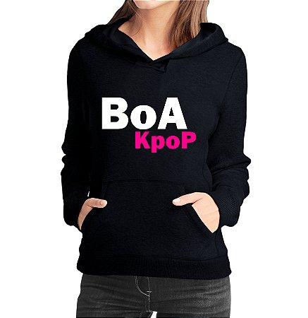 Moletom Feminino Kpop Banda Boa K-pop - Moletons Blusa de Frio Casacos Baratos Blusão Canguru Loja Online