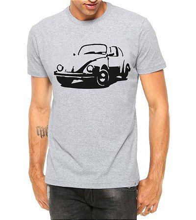 Camiseta Masculina Carro Antigo Cássico Fusca Cinza - Personalizadas/ Customizadas/ Estampadas/ Camiseteria/ Estamparia/ Estampar/ Personalizar/ Customizar/ Criar/ Camisa Blusas Baratas Modelos Legais Loja Online