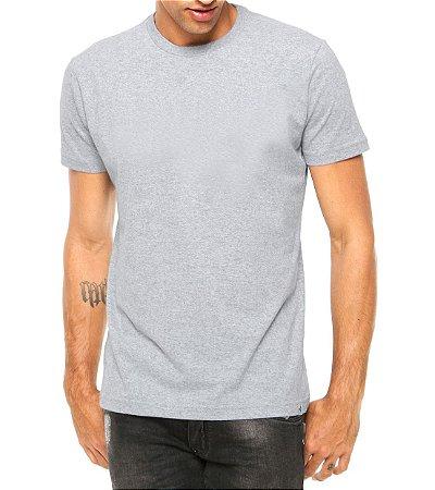 Camiseta Masculina Cinza Lisa Básica- Personalizadas/ Customizadas/ Estampadas/ Camiseteria/ Estamparia/ Estampar/ Personalizar/ Customizar/ Criar/ Camisa Blusas Baratas Modelos Legais Loja Online