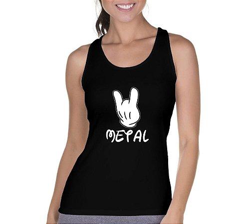 Camiseta Regata Metal Rock Mickey - Personalizadas/ Customizadas/ Camiseteria/ Camisa T-shirts Baratas Modelos Legais Loja Online