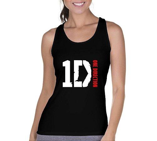 Camiseta Regata Feminina One Direction Preta - Personalizadas/ Customizadas/ Camiseteria/ Camisa T-shirts Baratas Modelos Legais Loja Online