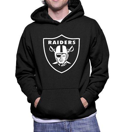 Moletom Masculino Oakland Raiders - Moletons Personalizados Blusa/ Casacos Baratos/ Blusão/ Jaqueta Canguru