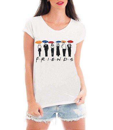 Camiseta Feminina Blusa Friends - Seriado/ Série/ Customizadas/ Estampadas/ Camiseteria/ Estamparia/ Estampar/ Personalizar/ Customizar/ Criar/ Camisa Blusas