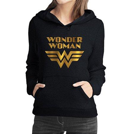 Moletom Feminino Wonder Woman Série Seriado - Moletons Personalizados Blusa/ Casacos Baratos/ Blusão/ Jaqueta Canguru