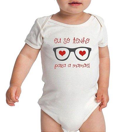 Body Bebe Banda Frases Engraçadas Divertidas Só Tenho Olhos Para Mamãe  - Roupinhas Macacão Infantil Bodies Roupa Manga Curta Menino Menina Personalizados