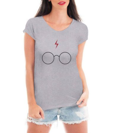 Modelo Tshirt Oculos Harry Potter Branca Cinza  - Personalizadas/ Customizadas/ Estampadas/ Camiseteria/ Estamparia/ Estampar/ Personalizar/ Customizar/ Criar/ Camisa Blusas Baratas Modelos Legais Loja Online