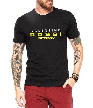 Camiseta Valentino Rossi Preta Masculina The Game - Personalizadas/ Customizadas/ Estampadas/ Camiseteria/ Estamparia/ Estampar/ Personalizar/ Customizar/ Criar/ Camisa Blusas Baratas Modelos Legais Loja Online