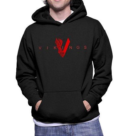 Moletom Vikings Masculino Preto Série Seriado Canguru Casaco - Moletons  Personalizados Blusa  Casacos Baratos  78cfcb5aa65