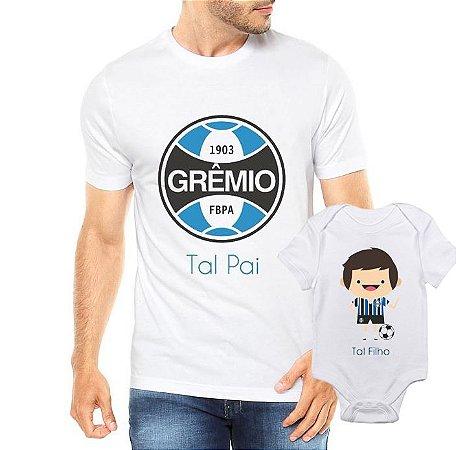 Camiseta Tal Pai tal filho Grêmio Futbol Futebol Time Dia Dos Pais - Personalizadas/ Customizadas/ Estampadas/ Camiseteria/ Estamparia/ Estampar/ Personalizar/ Customizar/ Criar/ Camisa Blusas Baratas Modelos Legais Loja Online