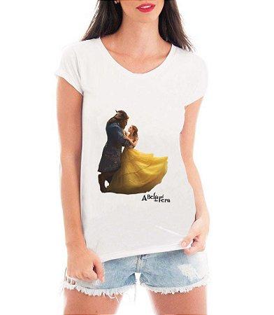 Camiseta Blusa Branca Filme A Bela e a Fera - Seriado Série/ Customizadas/ Estampadas/ Camiseteria/ Estamparia/ Estampar/ Personalizar/ Customizar/ Criar/ Camisa Blusas