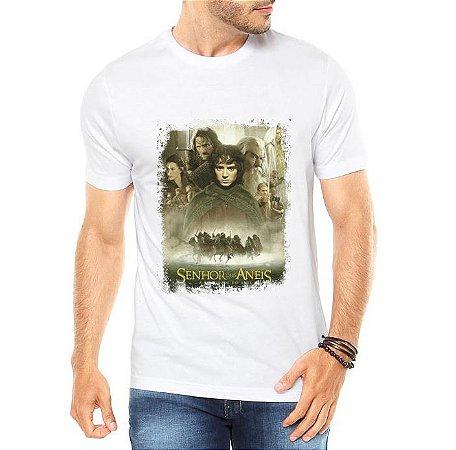 Camiseta Branca Masculina O Senhor dos Anéis Filme - Personalizadas/ Customizadas/ Estampadas/ Camiseteria/ Estamparia/ Estampar/ Personalizar/ Customizar/ Criar/ Camisa Blusas Baratas Modelos Legais Loja Online