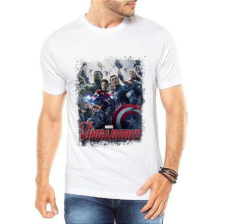 Camiseta Branca Masculina Vingadores Filme - Personalizadas/ Customizadas/ Estampadas/ Camiseteria/ Estamparia/ Estampar/ Personalizar/ Customizar/ Criar/ Camisa Blusas Baratas Modelos Legais Loja Online