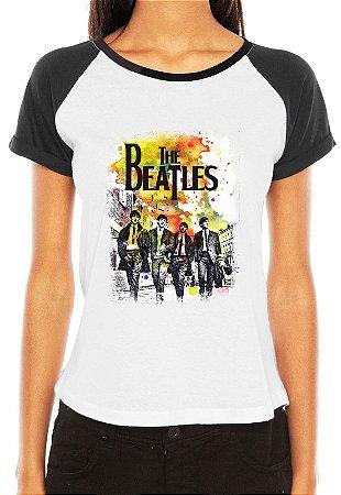 Camiseta Raglan Feminina Banda Rock The Beatles - Personalizadas   Customizadas  Estampadas  Camiseteria  b7dc22113ee